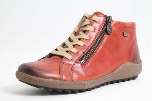 Remonte Schuhe orange Leder finished warmfutter Tex komfort Damen
