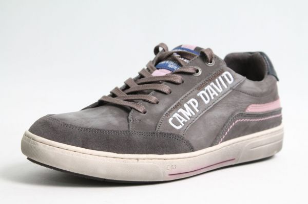 Camp David Schuhe grau Leder used Look finished Wechselfußbett komfort Herren