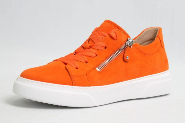 Gabor Schuhe orange nubuk Leder Best Fitting Wechselfußbett komfort Damen