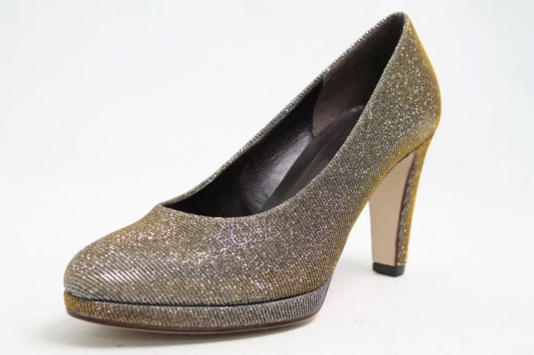 Gabor Pumps Hightech Glitter Metallic Effekt Plateau
